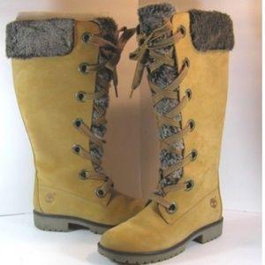 Obuwie damskie Timberland Mirney Faux Fur Lace up 91335 Knee